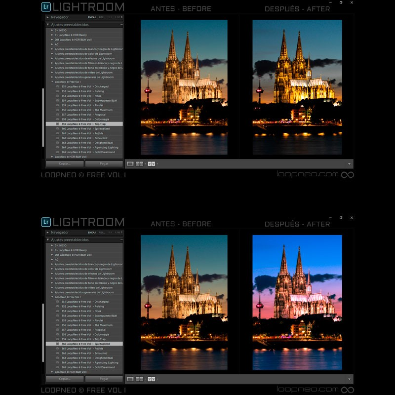 LoopNeo FREE Vol I Lightroom Presets